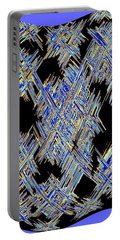 Micro Linear Portable Battery Charger featuring the digital art Micro Linear 18 by Will Borden