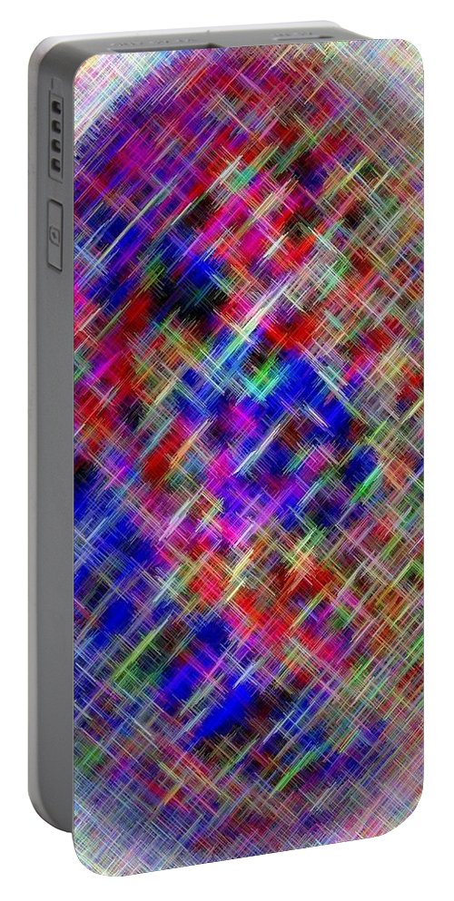 Micro Linear Portable Battery Charger featuring the digital art Micro Linear 4 by Will Borden