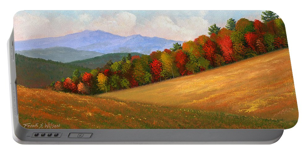 Landscape Portable Battery Charger featuring the painting Mid Autumn by Frank Wilson