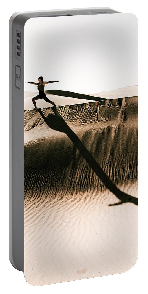 Yoga Portable Battery Charger featuring the photograph Mid Morning Anthem by Scott Sawyer