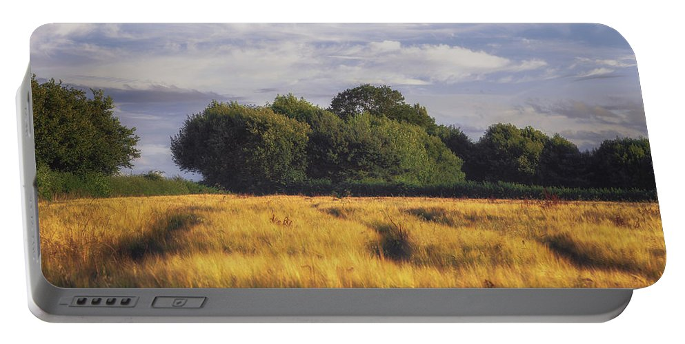 Agriculture Portable Battery Charger featuring the photograph Mid Summer Cereal Field by Chris Fletcher