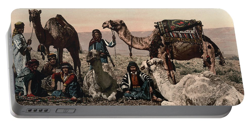 1890s Portable Battery Charger featuring the photograph Middle East: Travelers by Granger