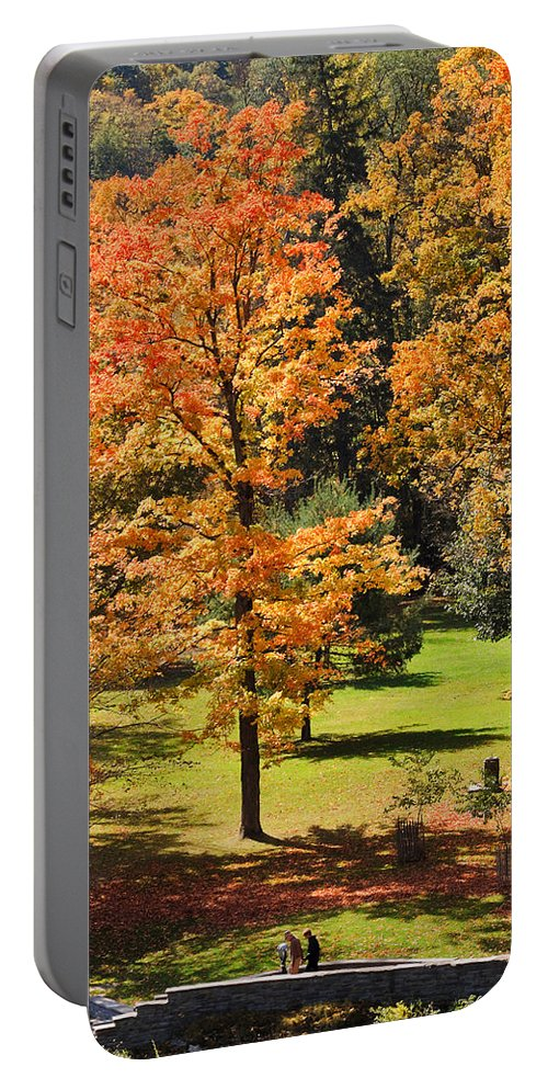 Travel Portable Battery Charger featuring the photograph Middle Falls Viewpoint In Letchworth State Park by Louise Heusinkveld