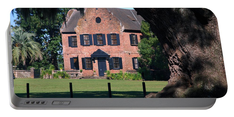 Photography Portable Battery Charger featuring the photograph Middleton Place Plantation House by Susanne Van Hulst