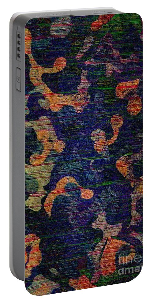 Abstract Acrylic Painting Portable Battery Charger featuring the photograph Midnight Canopy by Trent Jackson