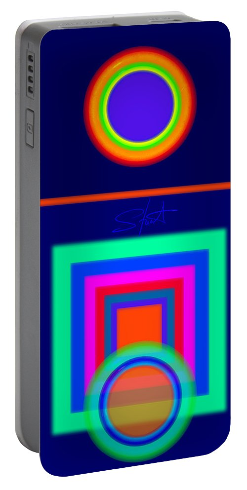 Classical Portable Battery Charger featuring the digital art Midnight Journey by Charles Stuart