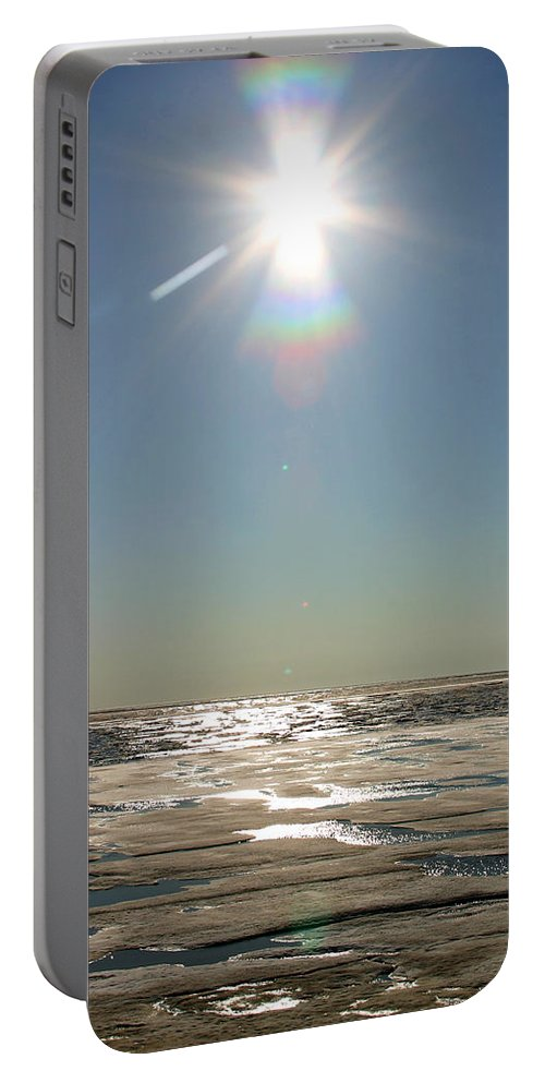 Arctic Portable Battery Charger featuring the photograph Midnight Sun Over The Arctic by Anthony Jones
