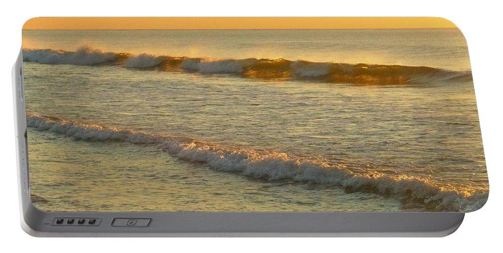 Sunrise Portable Battery Charger featuring the photograph Midsummer Light by Ellen Paull