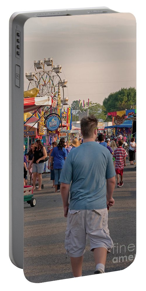 Fair Portable Battery Charger featuring the photograph Midway by Paulette B Wright