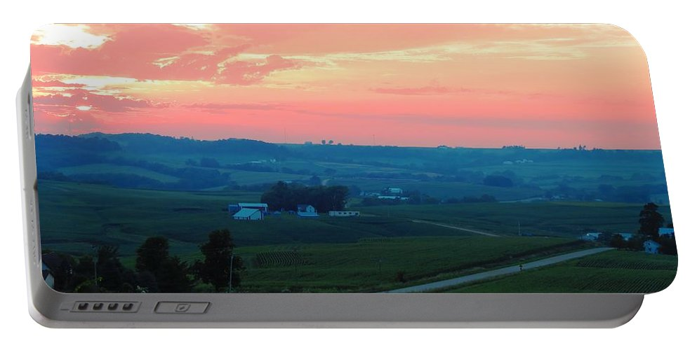 Sunset Portable Battery Charger featuring the photograph Midwest Sunset by Connor Ehlers