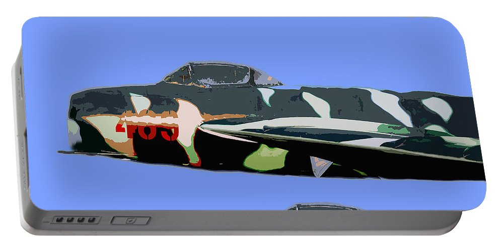 Mig Portable Battery Charger featuring the painting Migs In Formation by David Lee Thompson