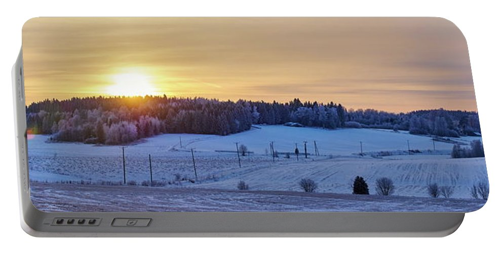 Finland Portable Battery Charger featuring the photograph Mihari Sunset by Jouko Lehto