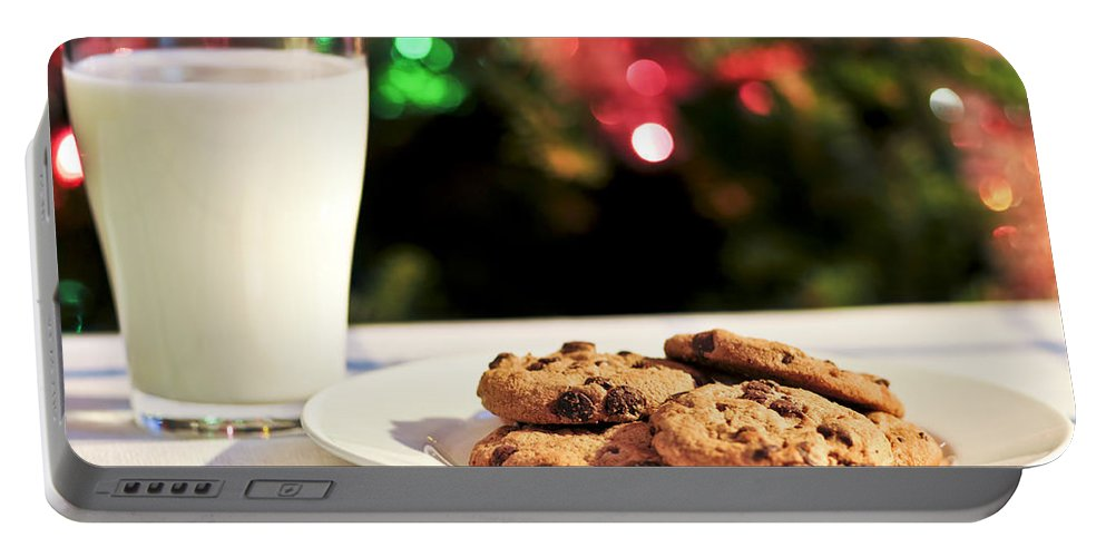 Cookies Portable Battery Charger featuring the photograph Milk And Cookies For Santa by Elena Elisseeva
