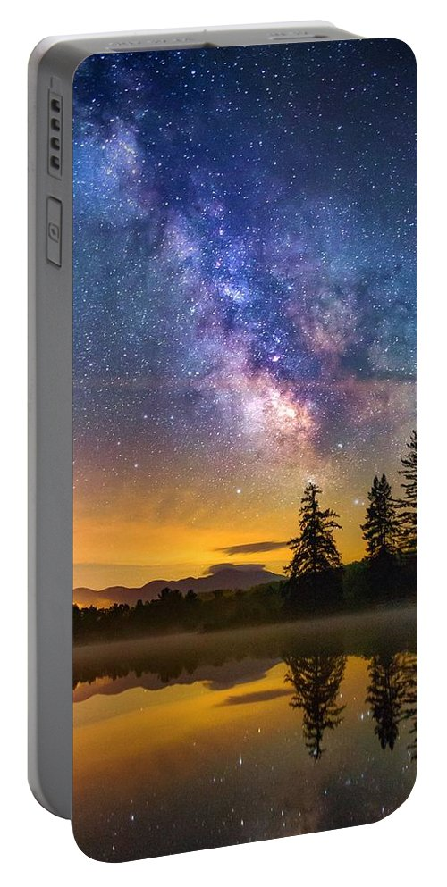 New Hampshire Portable Battery Charger featuring the photograph Milky Way Over Coffin Pond by Nick Walker