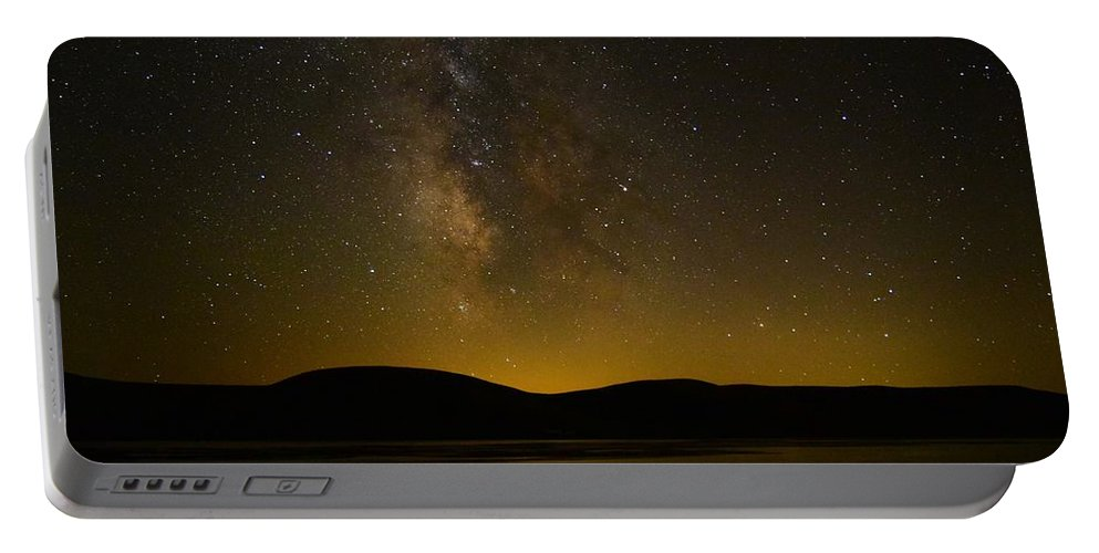 Milky Way Portable Battery Charger featuring the photograph Milky Way Refection by Carol Dyer
