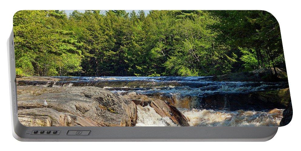 Canada Portable Battery Charger featuring the photograph Mill Falls, Kejimkujik National Park, Nova Scotia by Gary Corbett