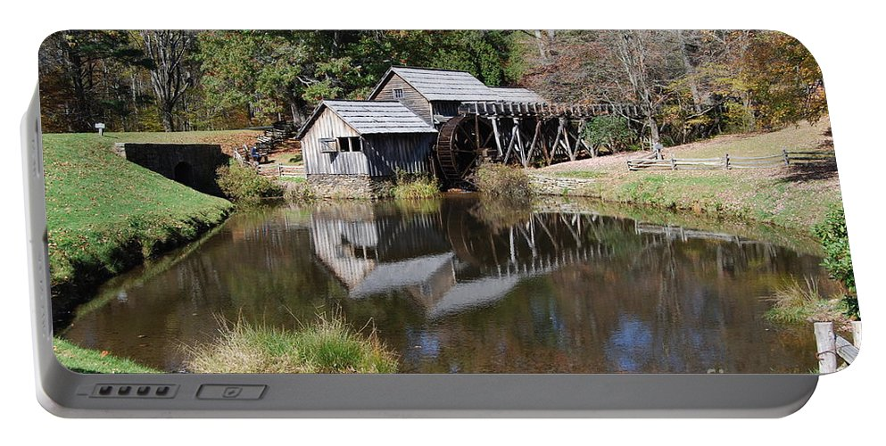Virginia Portable Battery Charger featuring the photograph Mill Reflections by Eric Liller