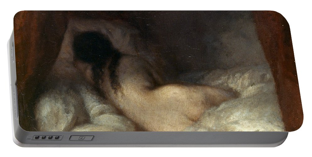 19th Century Portable Battery Charger featuring the painting Millet: Reclining Nude by Granger