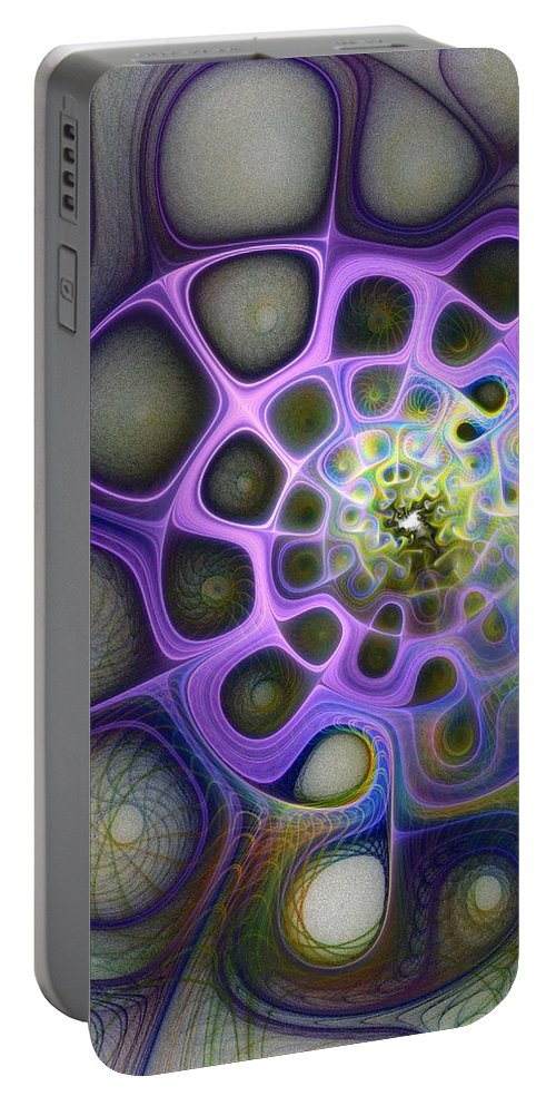 Digital Art Portable Battery Charger featuring the digital art Mindscapes by Amanda Moore