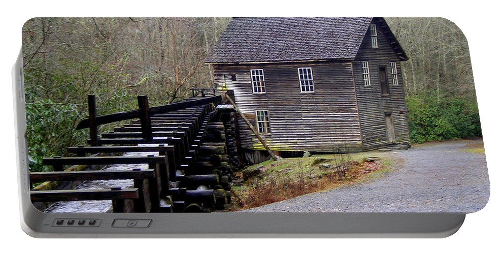 Great Smokey Mountain National Park Portable Battery Charger featuring the photograph Mingus Mill by Marty Koch
