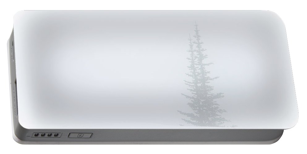 North Portable Battery Charger featuring the photograph Minimalism I Mt Rainier Pine by Ursa Davis