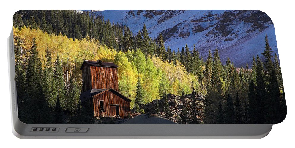 Colorado Portable Battery Charger featuring the photograph Mining Ruins by Steve Stuller