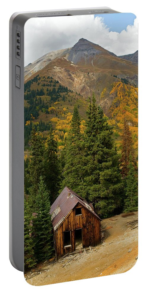 Colorado Portable Battery Charger featuring the photograph Mining Shack by Steve Stuller