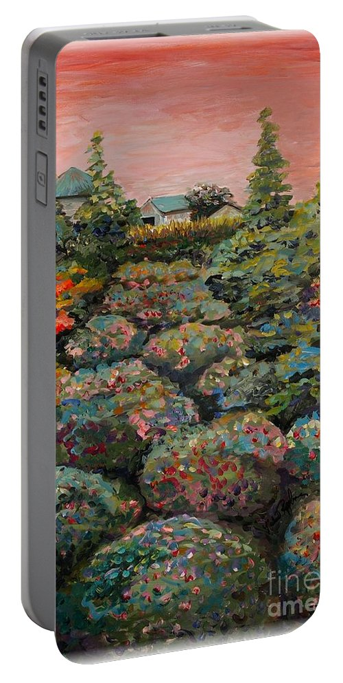 Minnesota Portable Battery Charger featuring the painting Minnesota Memories by Nadine Rippelmeyer