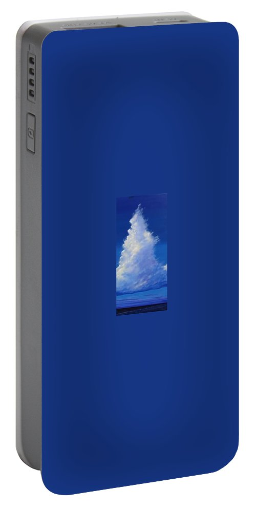 Clouds Portable Battery Charger featuring the painting Minor Earth Major Sky by Hunter Jay