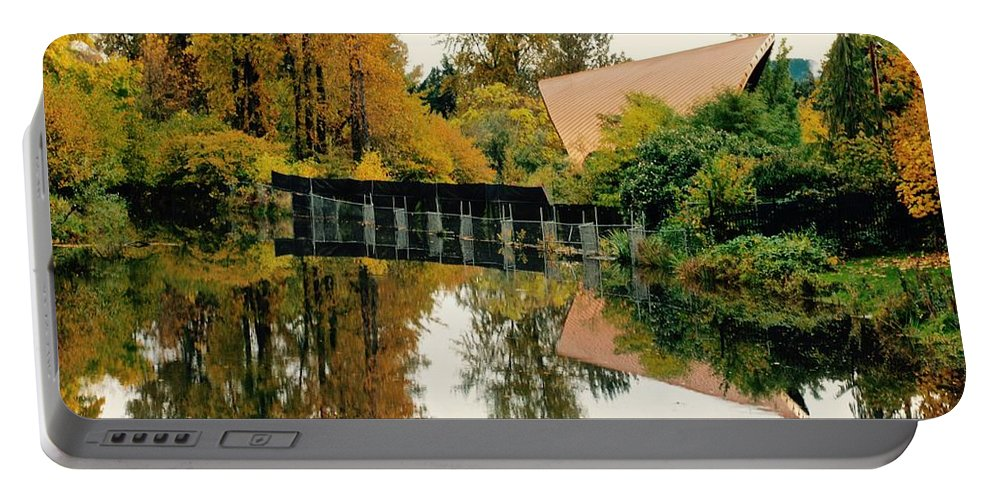 Autumn Portable Battery Charger featuring the photograph Mirror Image by David Coleman