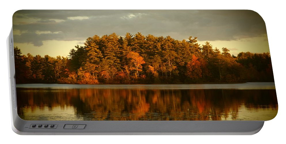The Mirror Lake.... Northwood Portable Battery Charger featuring the photograph Mirror Lake Image Of Fall by Traci Barnes
