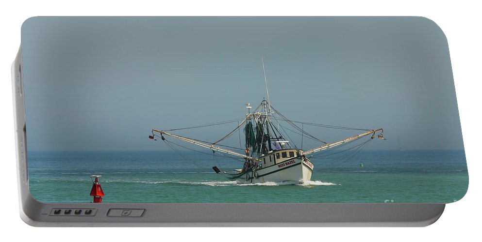 Fishing Boat Portable Battery Charger featuring the photograph Miss Hazel by Deborah Benoit