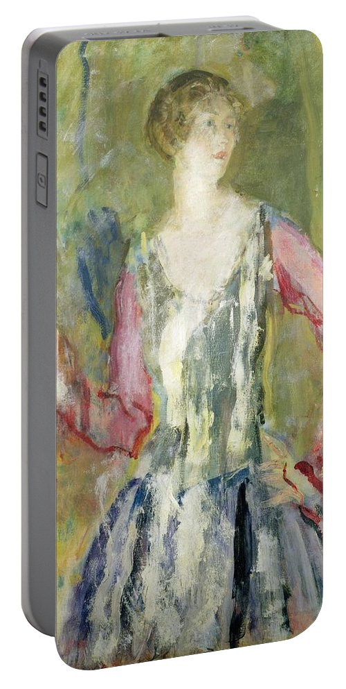 Miss Portable Battery Charger featuring the painting Miss Nancy Cunard by Ambrose McEvoy