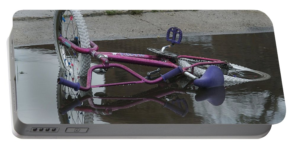 Bike Portable Battery Charger featuring the photograph Missing by Michael Peychich