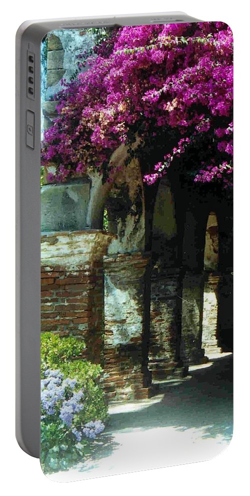 Mission Portable Battery Charger featuring the photograph Mission Series II by Jacqueline Russell