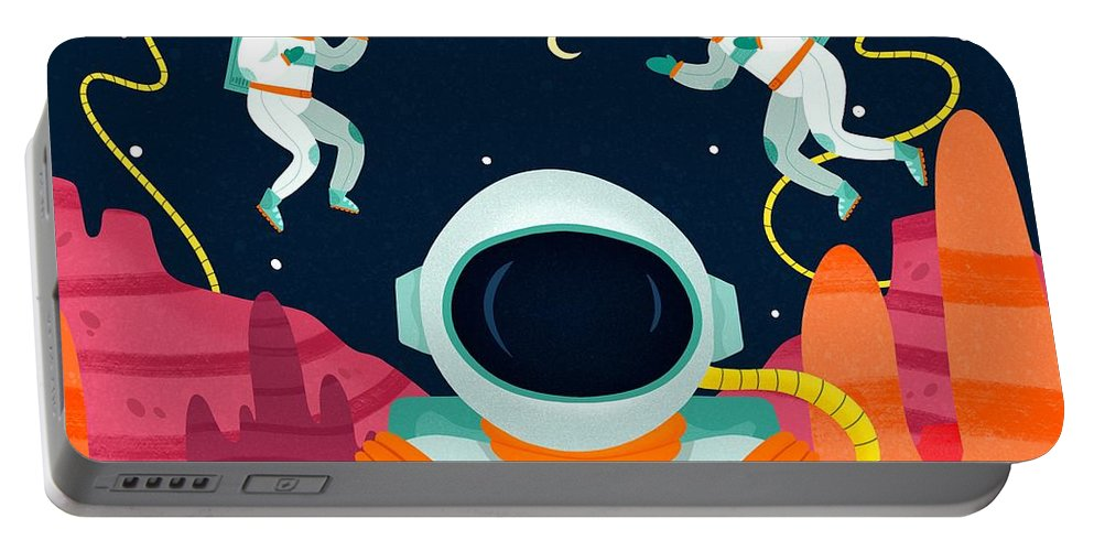 Mission To Mars Portable Battery Charger featuring the digital art Mission To Mars by Nicole Wilson