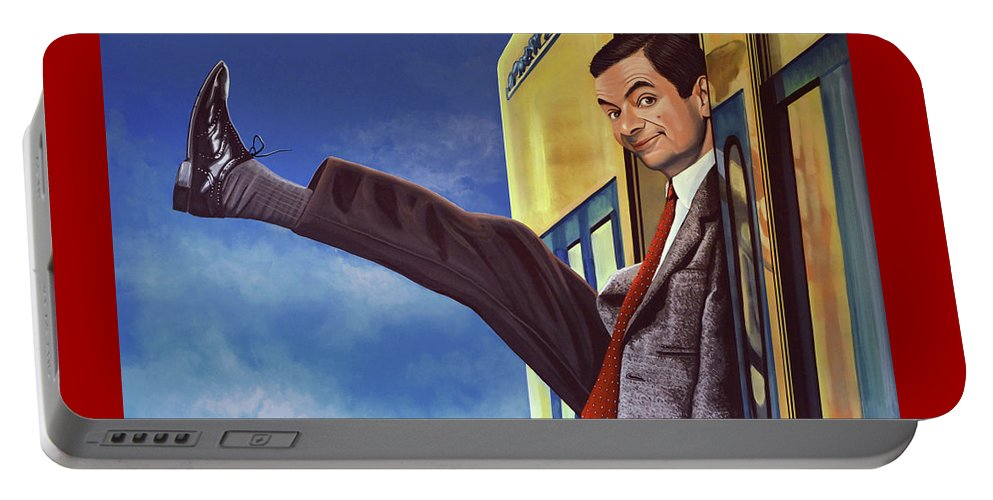 Mister Bean Portable Battery Charger featuring the painting Mister Bean by Paul Meijering