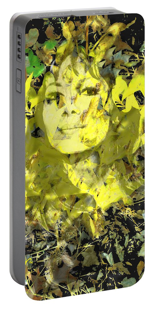Mistress Of Autumn Portable Battery Charger featuring the digital art Mistress of Autumn by Seth Weaver