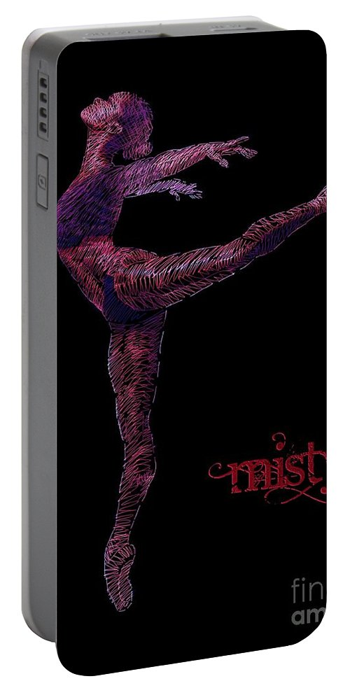 Misty Copeland Portable Battery Charger featuring the drawing Misty by Dale Crum