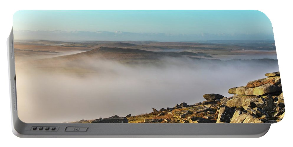 Rough Portable Battery Charger featuring the photograph Misty Moor by Paul Martin
