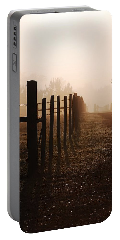 Misty Morning Portable Battery Charger featuring the photograph Misty Morning by Robert Meanor