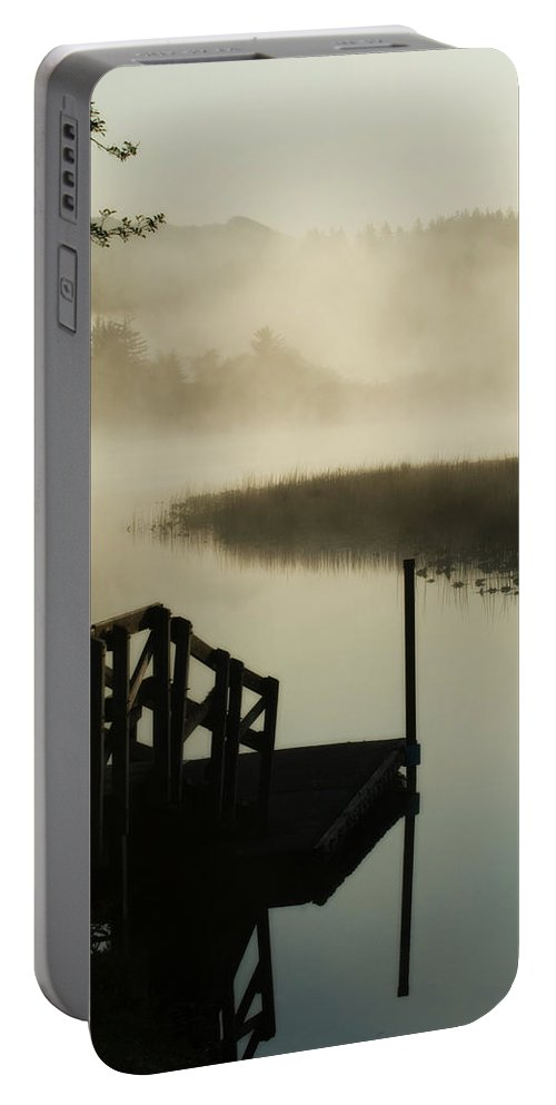 Oregon Portable Battery Charger featuring the photograph Misty Oregon Morning by Renee Hong