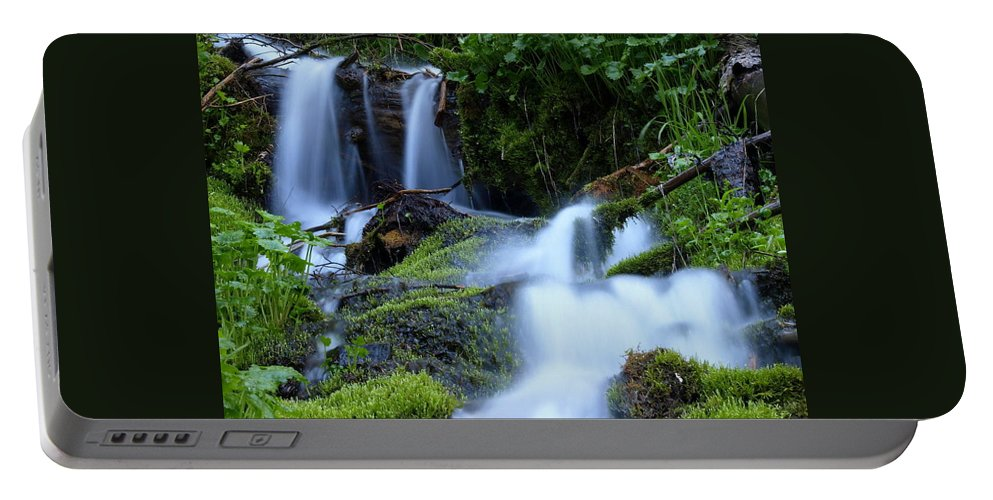 Water Portable Battery Charger featuring the photograph Misty Waters by DeeLon Merritt