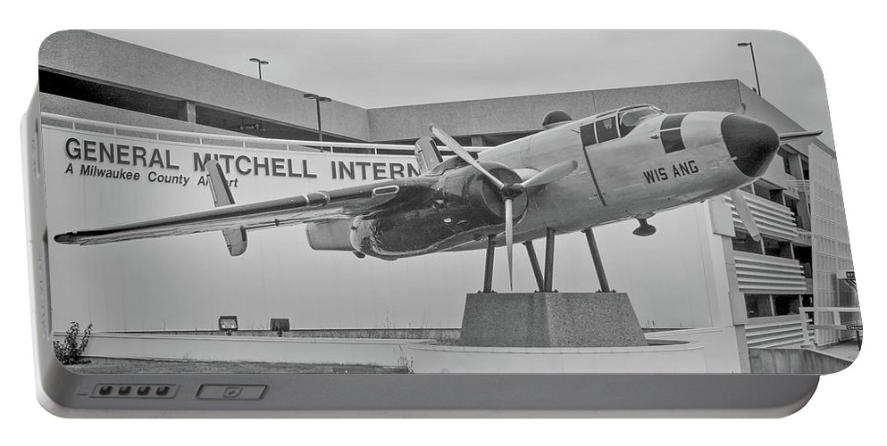 North Amerian B-25 Mitchell Portable Battery Charger featuring the photograph Mitchell International Airport by Tommy Anderson