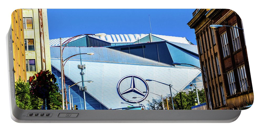 Atlanta Portable Battery Charger featuring the photograph Mercedes Benz Stadium by Kennard Reeves