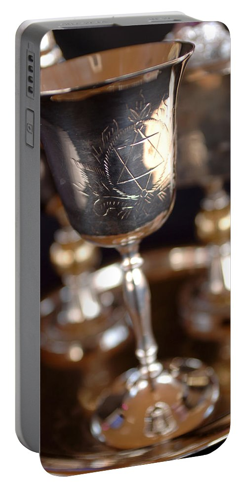 Mitzvah Portable Battery Charger featuring the photograph Mitzvah Cup by Jill Reger