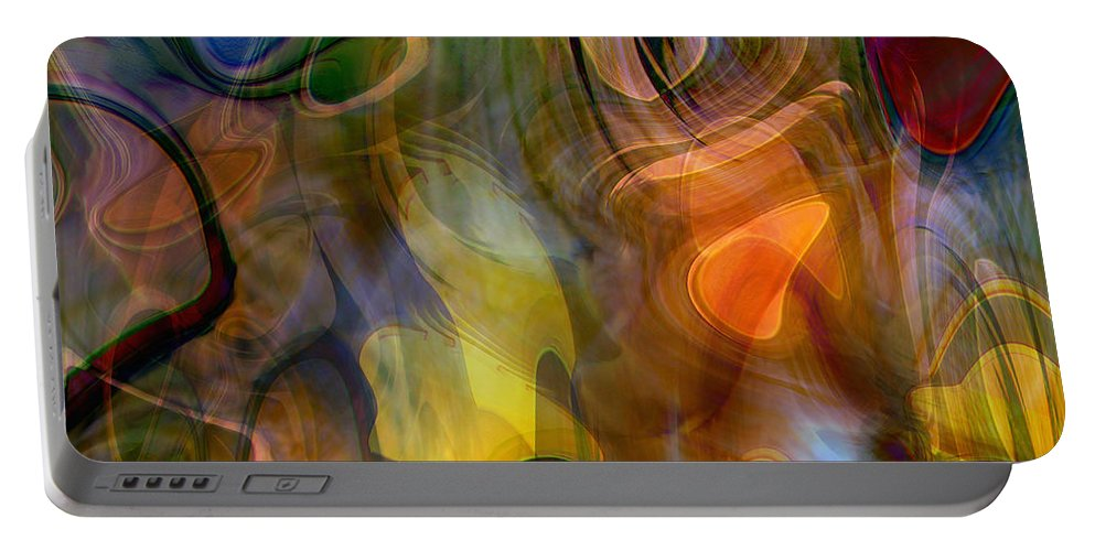 Mixed Emotions Portable Battery Charger featuring the digital art Mixed Emotions by Linda Sannuti