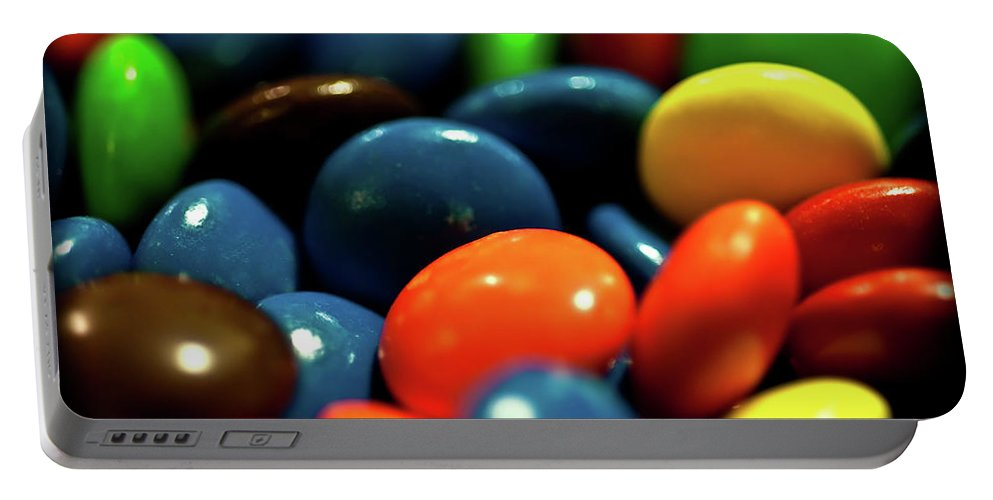 Chocolate Covered Candy Portable Battery Charger featuring the photograph Mmm Chocolate by Onyonet Photo Studios