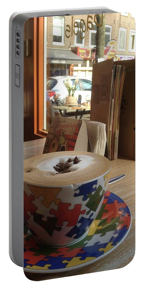 Cafe Portable Battery Charger featuring the photograph Mocha by Kat Cortez