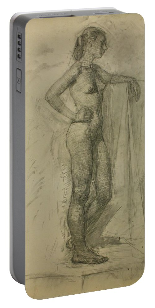 Beauty Portable Battery Charger featuring the painting Model 2 by Robert Nizamov